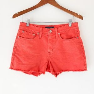 J CREW MERCANTILE Coral Denim Shorts Size 28
